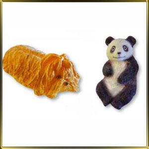 форма силикон. 3D Болонка+Панда