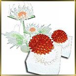 форма силикон. 3D Сердцевина цветка