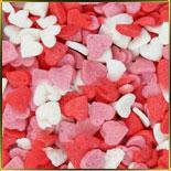 посыпка Сердечки №5 250г бело-роз-красные