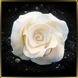 цветок Роза 50мм белая 1шт. мастика сах.