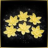 цветок Нарцисс 35мм желтый 6шт. мастика сах.