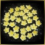 цветок Яблочный цвет 20мм желтый с серединкой 25шт. мастика сах.