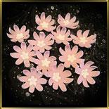 цветок 8 лепестков 35мм розовый с серединкой-цветком 12шт. мастика сах.