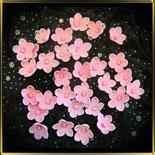 цветок Яблочный цвет 20мм розовый с серединкой 25шт. мастика сах.