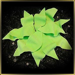 листик 75мм с гладкими краями зеленый 12шт. мастика сах.