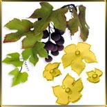 Лист винограда (4шт.) выемка-штамп пласт.