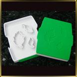 Лист тополя (3шт.) выемка-штамп пласт.