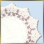 салфетка ажур. 27см белая (100шт.) Лист винограда
