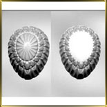 форма д/шок. Яйцо 3D 140мм узорное рифленое