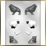 форма д/шок. Домашние животные 3D