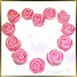 цветок Роза 20мм (оттиск) розовая 12шт. мастика сах.
