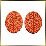 оттиск (вайнер) Лист лещины 75*60мм