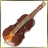 форма поликарб. 3D Скрипка 190мм