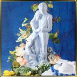 форма д/ледовой скульптуры Молодожёны41*41*83см