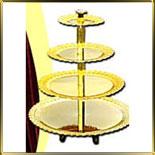 подставка фуршет. 4 ярусная Ажурная золотая