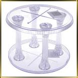 подставка д/торта пласт. 2 ярус. Кристалл 420мм