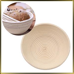 корзина д/расстойки хлеба круг. 0,8кг ротанг