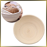 корзина д/расстойки хлеба круг. 0,5кг ротанг