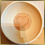 корзина д/расстойки хлеба круг. 0,75кг ротанг Сердце