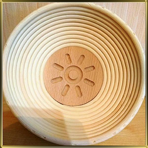 корзина д/расстойки хлеба круг. 0,75кг ротанг Солнце