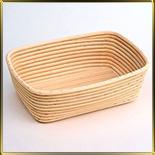 корзина д/расстойки хлеба квадр. 0,75кг ротанг