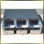 форма алюм. лит. 3-х сек. любой размер с силиконовым покрытием и с крышкой ПОД ЗАКАЗ
