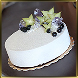 форма д/тортов, суфле, мороженого 220*40мм разъемная пласт.