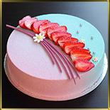 форма д/тортов, суфле, мороженого 250*40мм разъемная пласт.