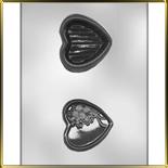 форма д/шок. Шкатулка - сердце с розой 3D
