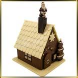 форма поликарб. 3D Домик зим. с елочкой и Дед Мороз