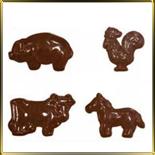 форма д/шок. Свинка, петух, корова, лошадь
