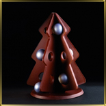 форма д/шок. 3D Елка с отверстиями д/шариков