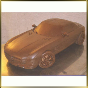 форма силикон. 3D Машина Мерседес