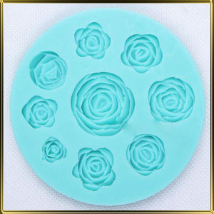 форма силикон. Роза (9шт.)