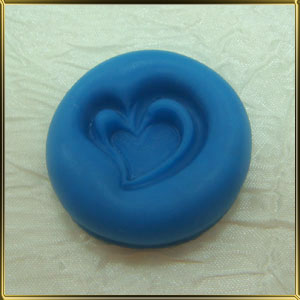 форма силикон. Сердце двойное