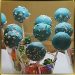 глазурь шок. тверд. голубая (ваниль) 500г (диски)