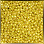 жемчуг золотой  2мм 100г перламутр.