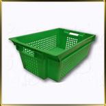 ящик перф. конус. 600*400*200мм зеленый