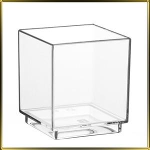 стаканчик пл. Куб  55мл (30шт.) прозр.