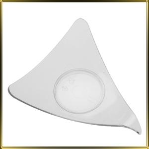 тарелочка пл.  Треугольник (25шт.) прозр.