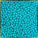 жемчуг голубой 5мм 100г перламутр. темный