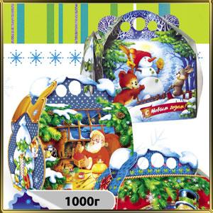 коробка (упаковка) д/конфет 190*110*150/200мм 1000г