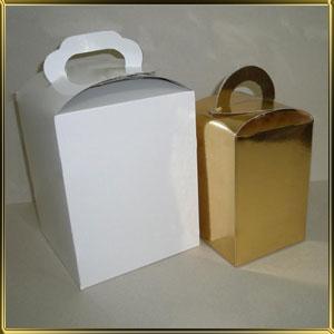 коробка (упаковка) 160*160*200мм белая глянцевая
