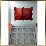 коробка (упаковка) д/капкейка (на 12шт.) белая ажурная с окошком