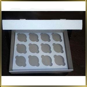коробка (упаковка) д/капкейка (на 12шт.) белая h= 80мм