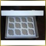 коробка (упаковка) д/капкейка (на 12шт.) белая h=110мм