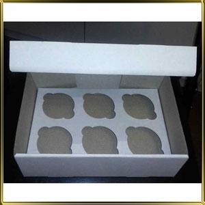 коробка (упаковка) д/капкейка (на  6шт.) белая h= 80мм