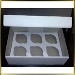 коробка (упаковка) д/капкейка (на  6шт.) белая h=110мм
