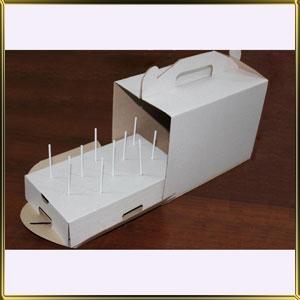 коробка (упаковка) д/кейк попсов (на 10шт.) белая