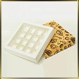 коробка (упаковка) д/конфет, макаронс, мини капкейков для 16шт. св. фон (пенал)